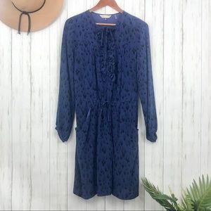Rebecca Taylor | Royal Blue Cheetah Print Dress